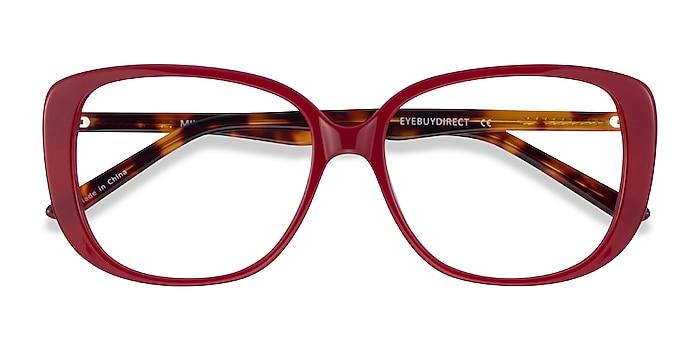 Burgundy Tortoise Mileva -  Acetate Eyeglasses