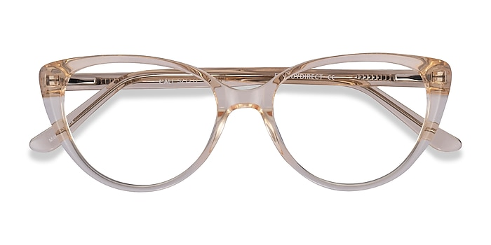 Clear Yellow Cali -  Acetate Eyeglasses