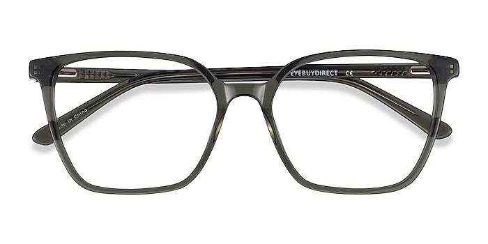 Clear Green Nobel -  Acetate Eyeglasses