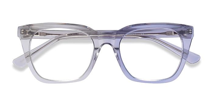 Clear Gray Lunar -  Acetate Eyeglasses
