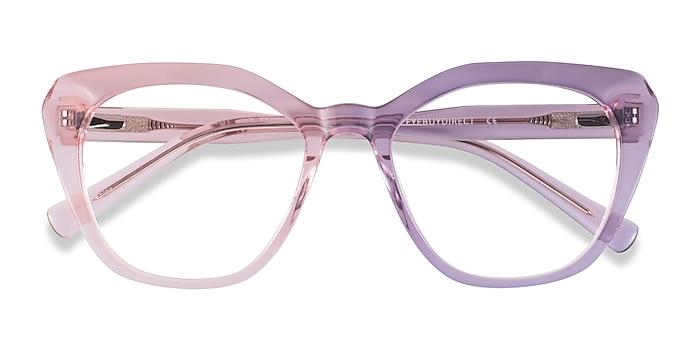 Clear Pink Judy -  Acetate Eyeglasses
