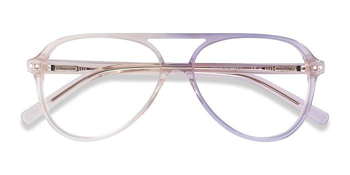 Clear Brown Rewind -  Acetate Eyeglasses