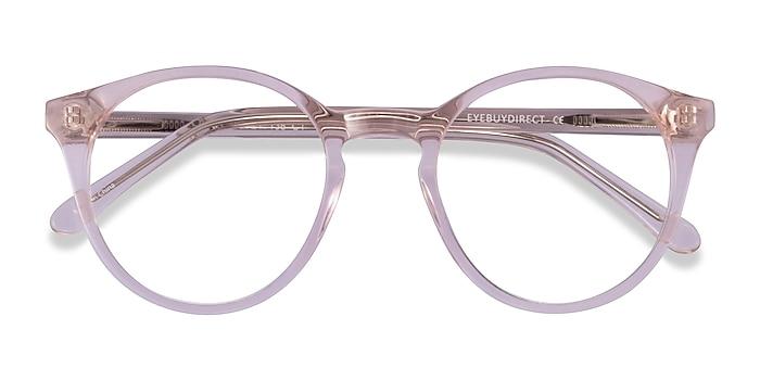 Clear Pink Latta -  Acetate Eyeglasses