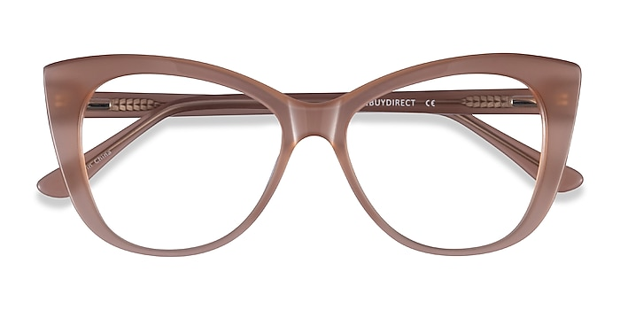 Clear Brown Jenna -  Acetate Eyeglasses