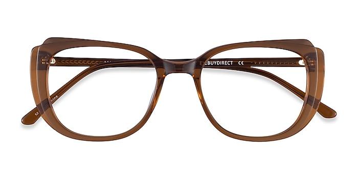 Clear Brown Magnolia -  Acetate Eyeglasses