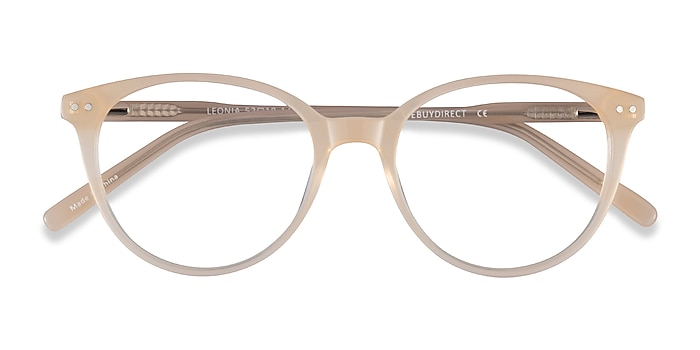 Light Yellow Leonia -  Acetate Eyeglasses