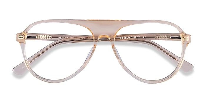 Clear Yellow Percussive -  Acetate Eyeglasses