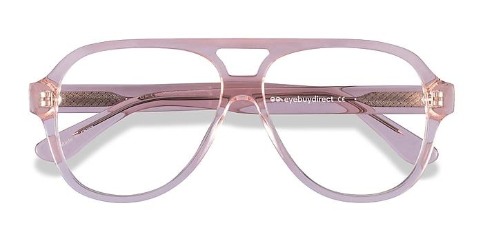 Clear Pink Iggy -  Acetate Eyeglasses