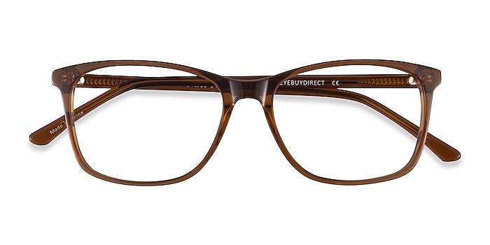 Clear Brown Crescendo -  Acetate Eyeglasses
