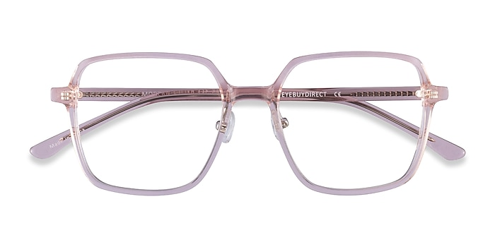 Clear Pink Modern -  Acetate Eyeglasses