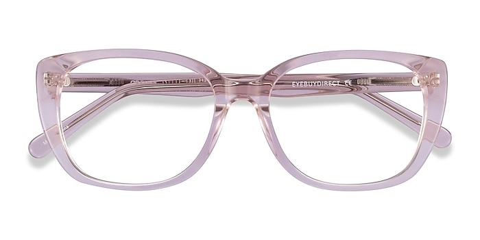 Clear Pink Odessa -  Acetate Eyeglasses