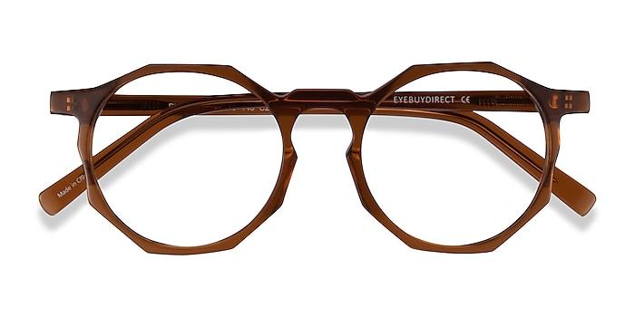 Clear Brown Primula -  Acetate Eyeglasses