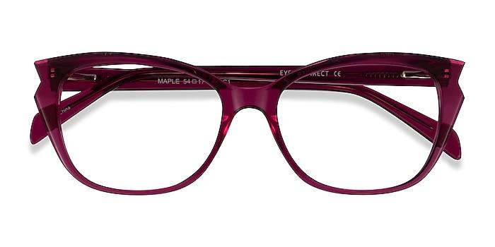 Clear Burgundy Maple -  Acetate Eyeglasses