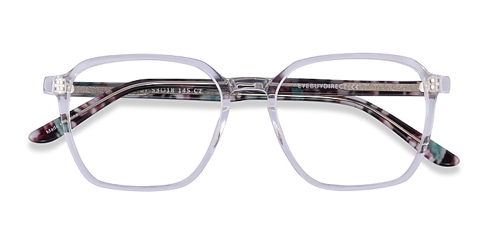 Clear Floral Ashby -  Acetate Eyeglasses