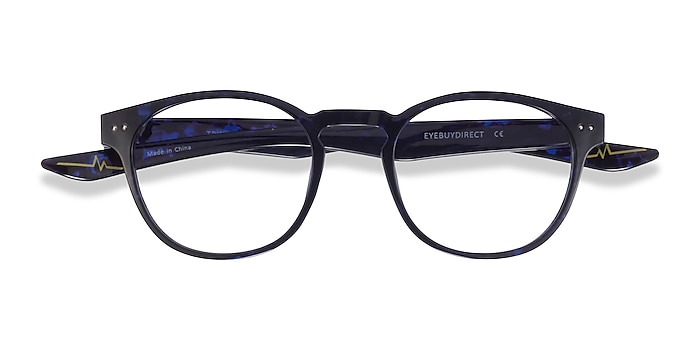 Blue Tortoise Trinity -  Plastic Eyeglasses