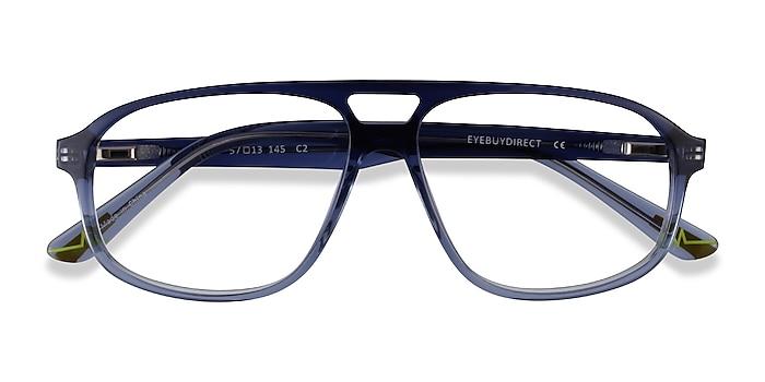 Clear Blue Volt -  Acetate Eyeglasses
