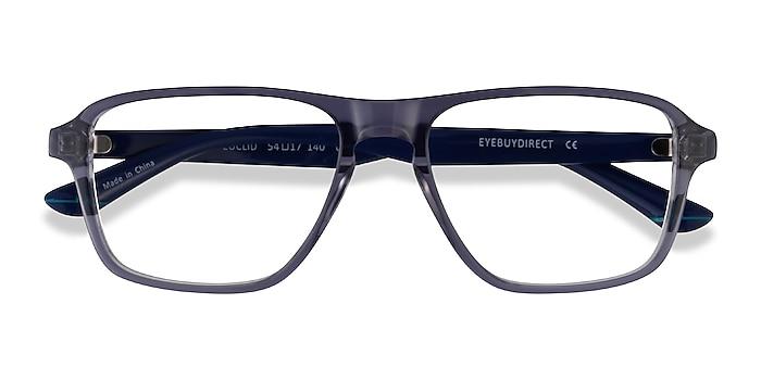 Clear Gray Euclid -  Plastic Eyeglasses