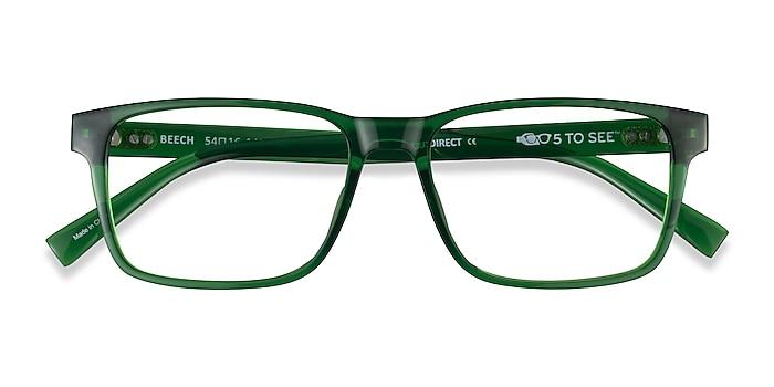 Clear Green Beech -  Plastic Eyeglasses