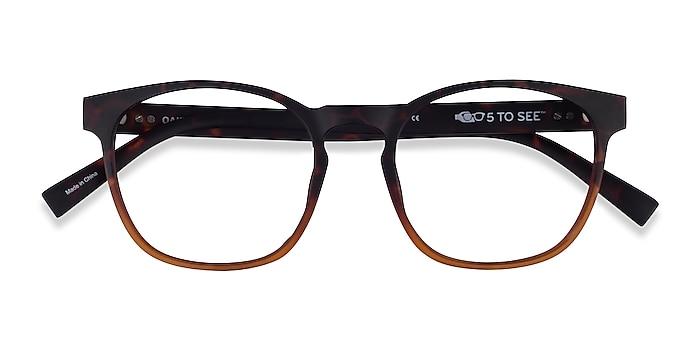 Matte Tortoise Brown Oakwood -  Plastique Lunettes de vue