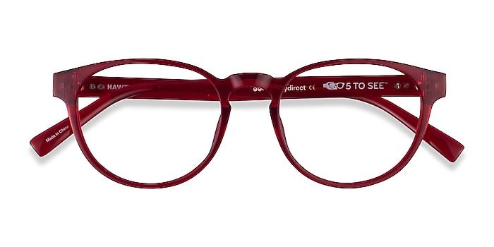 Clear Red Hawthorne -  Plastic Eyeglasses