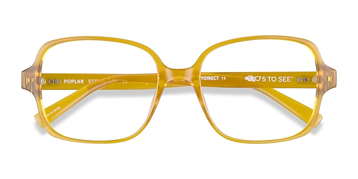 Clear Yellow Poplar -  Plastique Lunettes de vue