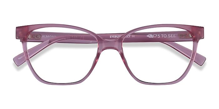 Clear Pink Almond -  Plastic Eyeglasses
