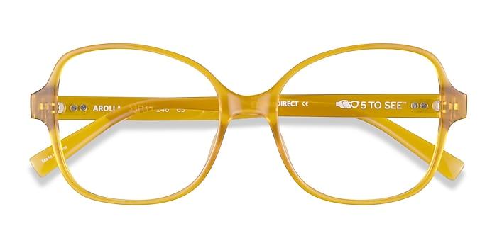 Clear Yellow Arolla -  Plastic Eyeglasses