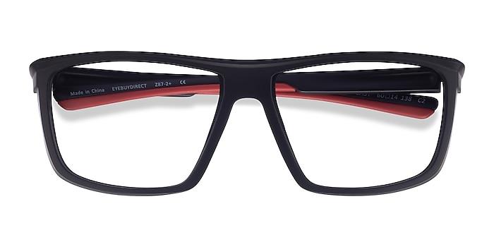 Black Red Cast -  Plastic Eyeglasses