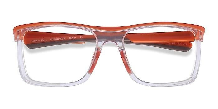 Orange Clear Ignite -  Plastic Eyeglasses