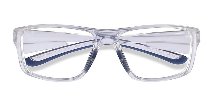 Clear Blue Buff -  Plastic Eyeglasses