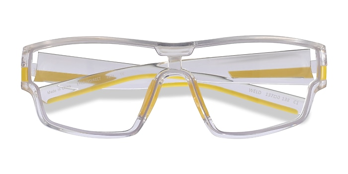 Clear Yellow Weld -  Plastic Eyeglasses