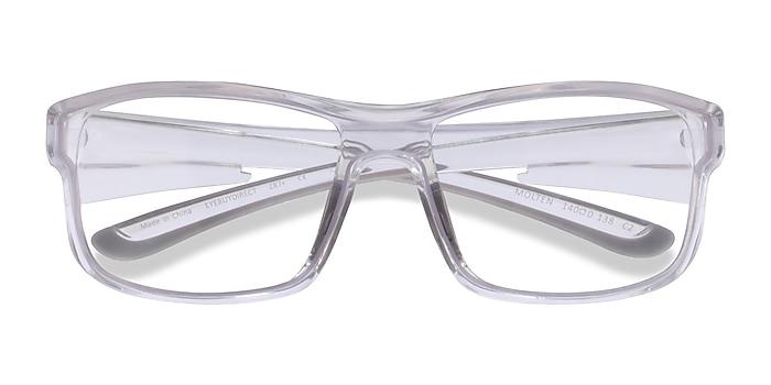 Clear Gray Molten -  Plastic Eyeglasses