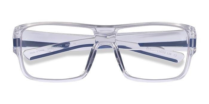 Clear Blue Flash -  Plastic Eyeglasses