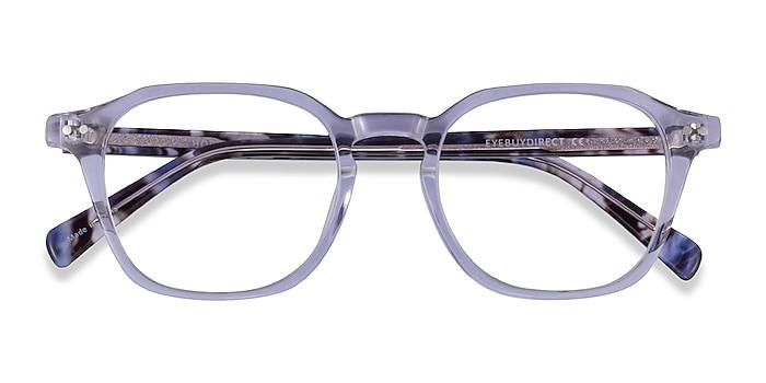 Clear Purple Floral Hopkins -  Acetate Eyeglasses