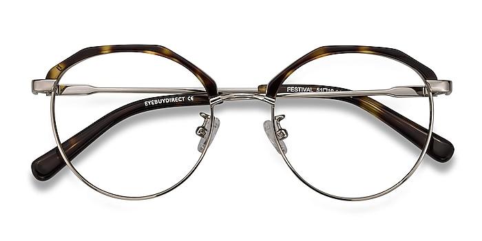 Tortoise Festival -  Vintage Acetate, Metal Eyeglasses