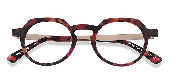 Speckled rose Phantasm -  Vintage Acetate, Metal Eyeglasses