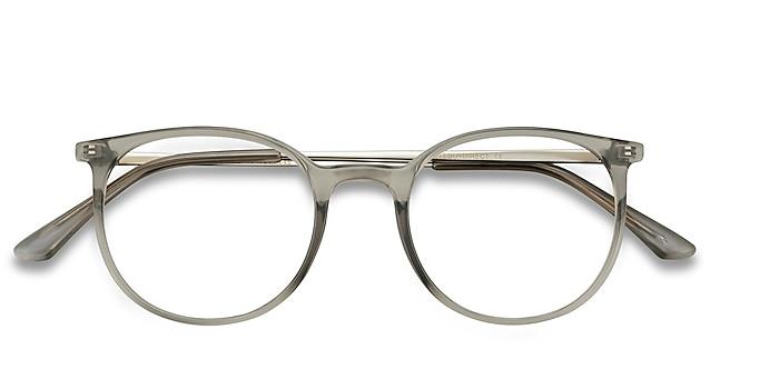 Clear Gray Marilou -  Lightweight Plastic, Metal Eyeglasses