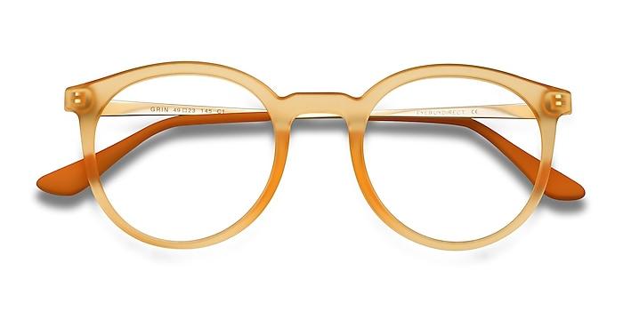 Matte Yellow Grin -  Colorful Plastic, Metal Eyeglasses