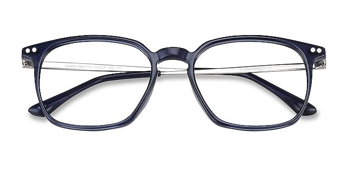 Navy Ghostwriter -  Lightweight Plastic, Metal Eyeglasses