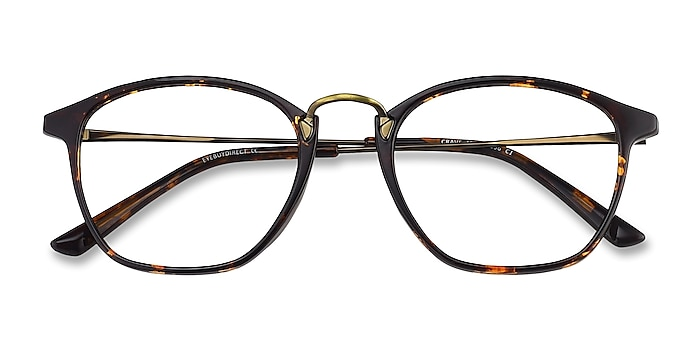 Tortoise Crave -  Vintage Plastic, Metal Eyeglasses