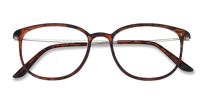 Matte Tortoise Strike -  Lightweight Plastic, Metal Eyeglasses