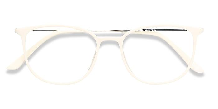 White Strike -  Lightweight Plastic, Metal Eyeglasses