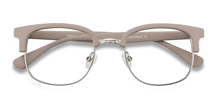Gray Yokote -  Vintage Plastic, Metal Eyeglasses