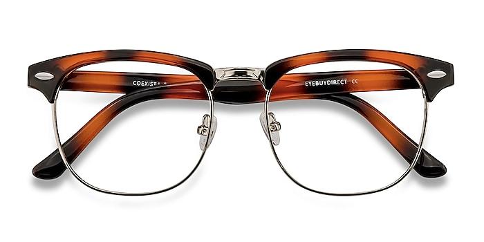 Tortoise Coexist -  Vintage Plastic, Metal Eyeglasses