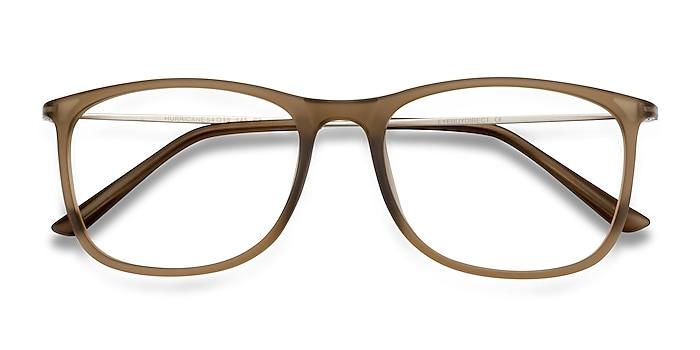 Matte Cinnamon Hurricane -  Lightweight Plastic, Metal Eyeglasses