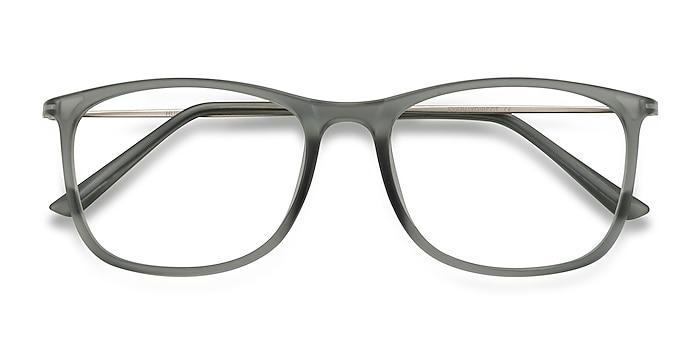 Matte Gray Hurricane -  Lightweight Plastic, Metal Eyeglasses