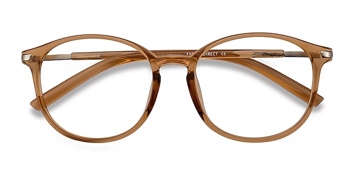 Clear Orange Lindsey -  Lightweight Plastic, Metal Eyeglasses