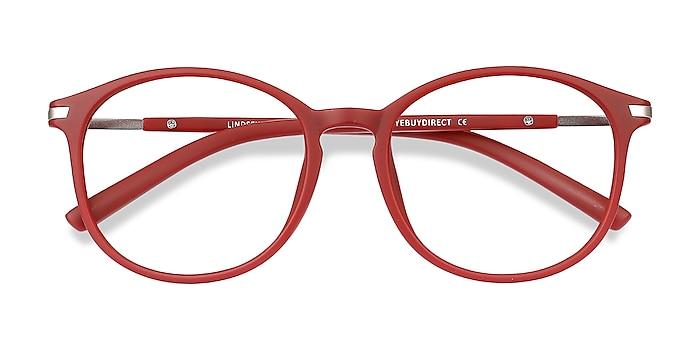 Burgundy Lindsey -  Lightweight Plastic, Metal Eyeglasses