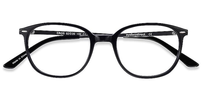 Black Eros -  Lightweight Acetate, Metal Eyeglasses