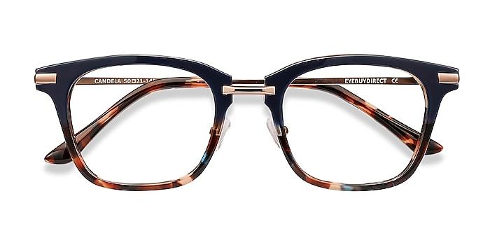 Blue Floral Candela -  Acetate, Metal Eyeglasses